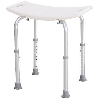 HOMCOM Mobility Shower and Bath Stool Bench with Non-Slip Aluminum Frame