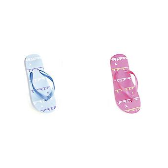 FLOSO Childrens/Kids Girls Bird Flip Flops