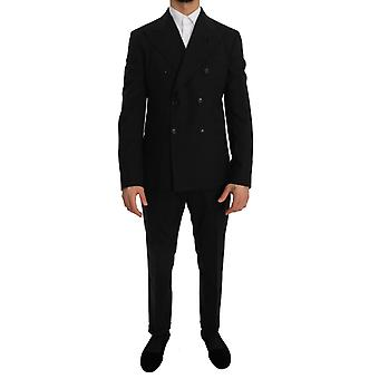 Dolce & Gabbana Black Stretch Crystal Bee Slim Fit Suit--JKT1549872