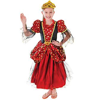 Bristol Novelty Girls Gold Star Princess Dress Costume