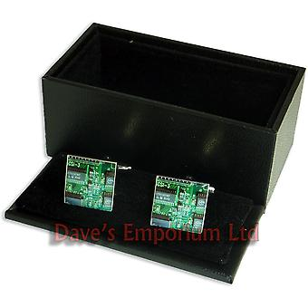 Circuit Board Cufflinks - Gift Boxed - Electrical Computer Printed Circuitboard