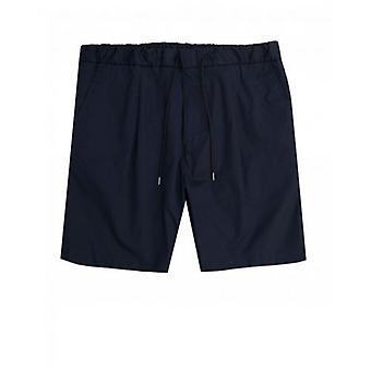 BOSS Ginzou Paper Cotton Drawstring Shorts