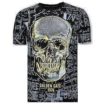 T-shirt Skull - Rhinestones - 7356 - Black