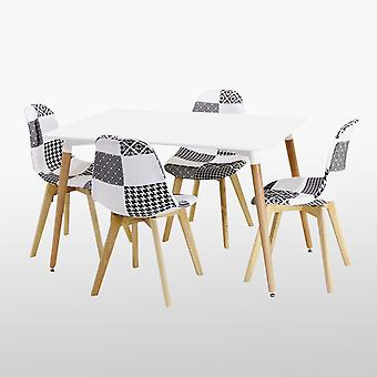 Chrono Patchwork Halo Dining Set