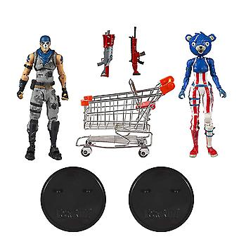Fortnite 2-Pack Shopping Cart War Paint & Fireworks Team Leader Action Figures