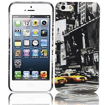 Cadorabo - Hard Cover for > Apple iPhone 5 / iPhone 5S / iPhone SE < - Case Cover Protective Case Bumper in Design: NEW YORK CAB