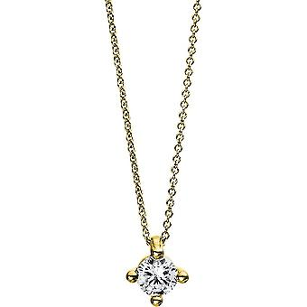 Diamond Collier Necklace - 14K 585/- Yellow Gold - 0.25 ct. - 4D245G4-1