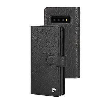 Pierre Cardin Leren Brieftasche Fall Hoesje Samsung Galaxy S10 Plus - Zwart
