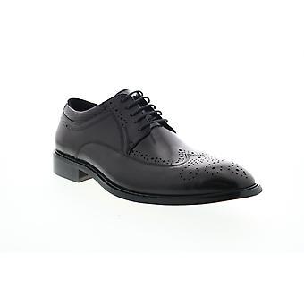 Zanzara Cesar  Mens Black Leather Dress Lace Up Oxfords Shoes
