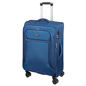 d&n Línea de viaje 6404 Carro M, 4 ruedas, 68 cm, 70 L, Azul
