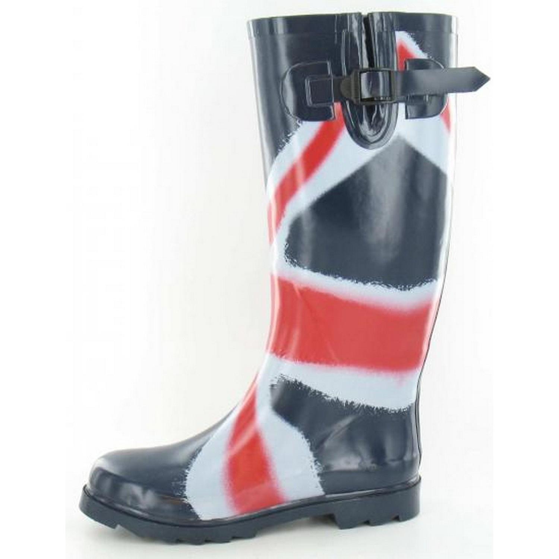 Miejscu na damskie/Panie Union Jack flagi wydruku gumowe kalosze Wellington 9JbIN