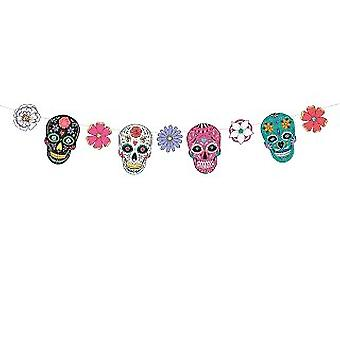 Day of the Dead Masks Garland 1.2m