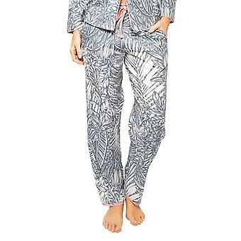 Cyberjammies Hallie 4521 Kvinnor's Grå Mix Leaf Print Pyjama Byxa