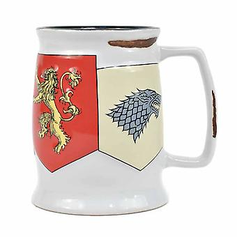 Game Of Thrones Mug Tankard House Sigils Banner new Official Boxed