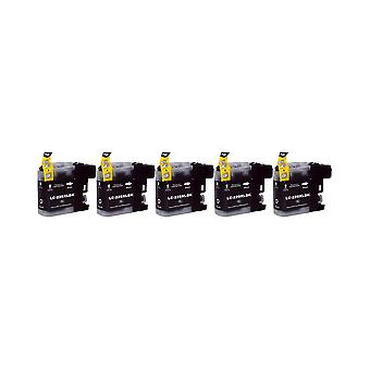 RudyTwos 5x Replacement for Brother LC-229XLBK Ink Unit Black (Extra High Yield) Compatible with MFC-J4425DW, MFC-J4625DW, DCP-J4120DW, MFC-J4620DW, MFC-J4420DW, MFC-J5625DW, MFC-J5600Series, MFC-J532