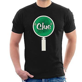 Hasbro Cluedo Rev grüne Vergrösserung Glas Finger Druck Männer's T-Shirt