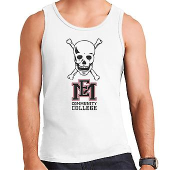 East Mississippi Community College Dark Skull Logo Men's Vest