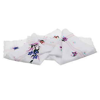 Vintage Σχεδιασμός Βαμβάκι Τετράγωνο Floral Μαντήλι - Γυναίκες Φορητή Πετσέτα