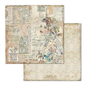 סטמפריה אמנות פנים 12x12 גיליונות נייר אינץ ' (10pcs) (SBB670)