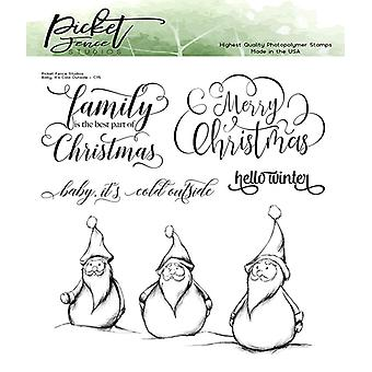 Picket Fence Studios Baby, It's Cold Outside Clear Stamps