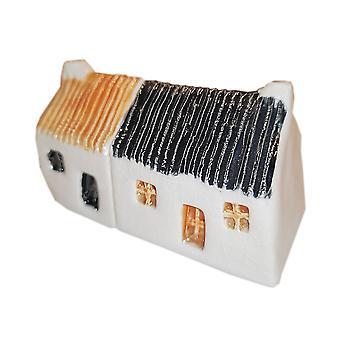 Wee Semi-vrijstaande Bothies Tin-dak Toffee & Black door Glenshee Aardewerk
