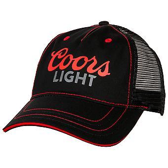 Coors Light Logo Adjustable Velcro Mesh Trucker Hat