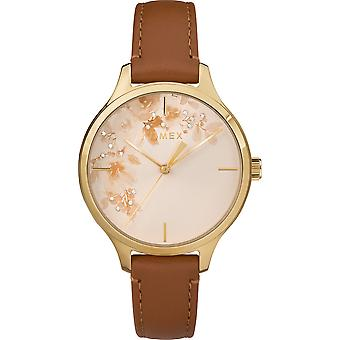TW2R66900, City Crystal Elevated Classic Straps And Bracelets Ladies Watch / Tan