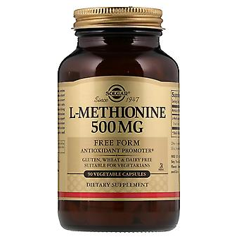 Solgar, L-metionina, 500 mg, 90 cápsulas vegetales