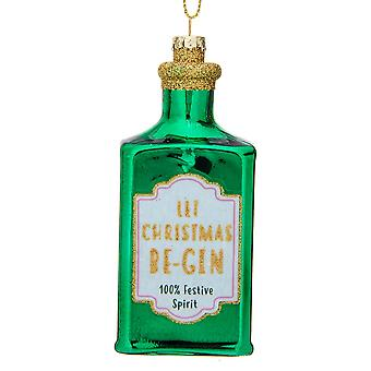 Let Christmas Be-Gin - Gin Bottle Shaped Bauble