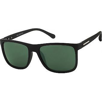 Aurinkolasit Unisex Traveler Cat.3 matta musta/vihreä (19-256)
