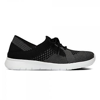 FitFlop Marbleknit Ladies Trainers Black/charcoal Grey