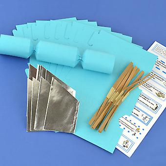 8 Sea Blue Make & Fill Your Own DIY ReyClable Christmas Cracker Craft Kit