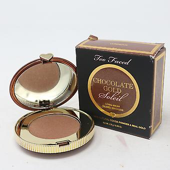 Too Faced Chocolate Soleil Lumineux Bronzer 0.09oz Chocolate Gold New With Box
