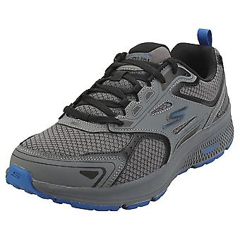 Skechers Go Run Consistent Mens Running Trainers in Charcoal Blue