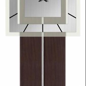 NeXtime 3144 Retro Pendulum Square RC [80x32 cm, Mat Wit]