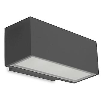Leds-C4 Afrodita - Luz LED al aire libre pequeña lavadora de pared luz urbana gris IP65