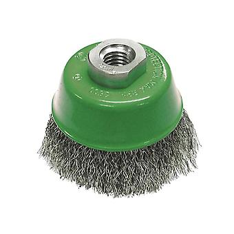 Faithfull Wire Cup Brush 80mm x M14 x 2 Stainless Steel 0.30mm FAIWBC80S