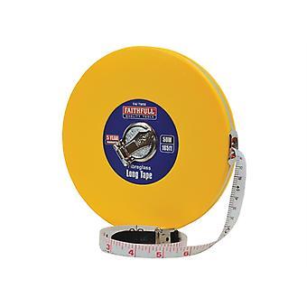Faithfull Closed ABS Fibreglass Long Tape 50m/165ft (Width 13mm) FAITM50