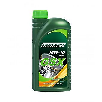 Fanfaro GSX 1 L Engine Oil With Highly Purified Mineral Basis 15W40 API SG/CD
