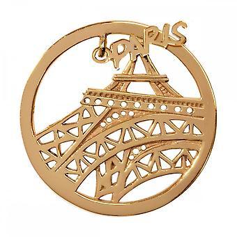 Nikki Lissoni Paris Medium Gold Plated Coin C1331GM
