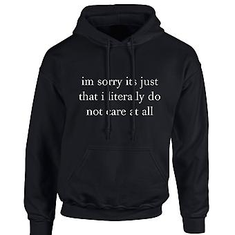 I'm Sorry It's Just That I Don't Care At All Funny Unisex Hoodie 10 Colours (S-5XL) by swagwear