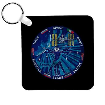 NASA ISS Expedition 37 Mission Badge Distressed Keyring
