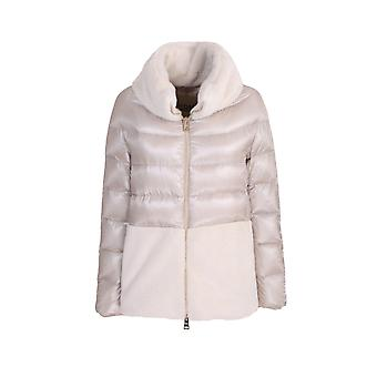 Herno Pi1123120171985 Women's Beige Polyester Down Jacket