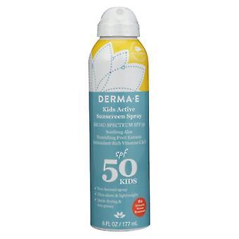 Derma e Kids Active Sunscreen Spray SPF 50, 6 Oz