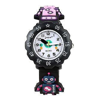 Водонепроницаемый Luminous светодиодные цифровые часы Touch Дети - черный