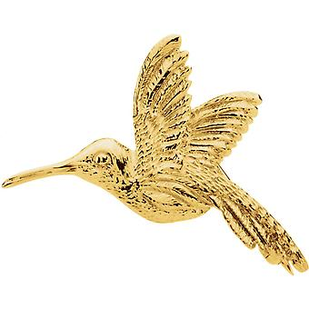 14k Yellow Gold 27x25mm Polished Hummingbird Brooch Pin Jewelry Gifts for Women - 3.5 Grams