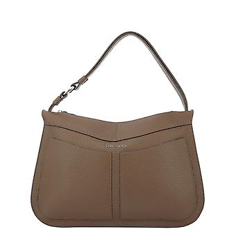 Orciani B02084softcaramello Women's Brown Leather Shoulder Bag