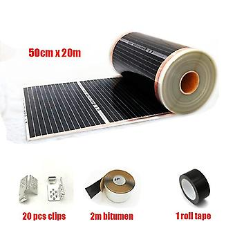 Infrared Heating Film 220w Electric Warming Floor Confortable Heating Mat With Accessories