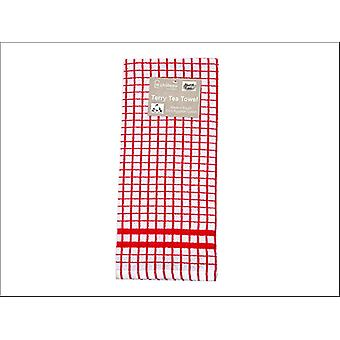 Le Chateau Textiles Terry Tea Towel Red/ White Check HT29