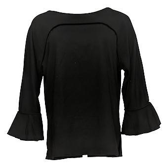 الحسناء من قبل كيم الحصى المرأة & ق أعلى 3/4 كشكشة الأكمام الأسود A355045